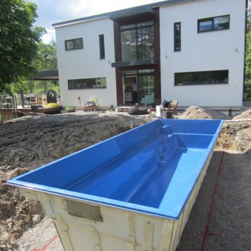 Sweden Pool installation
